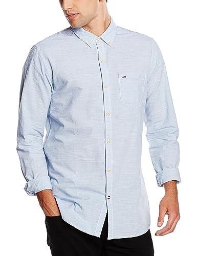 Hilfiger Denim Herren Regular Fit Freizeit Hemd Neps stripe shirt l/s 1, Gr. Small, Blau (ESTATE BLU...