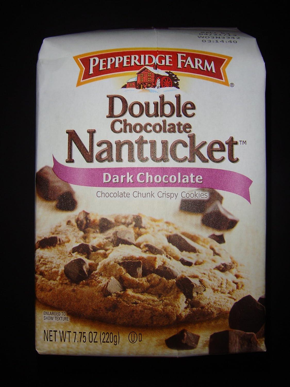 Pepperidge Farm Double Chocolate Nantucket Dark Chocolate Chunk Crispy Cookies 7 75 Oz Pack Of 4 Amazon Com Grocery Gourmet Food