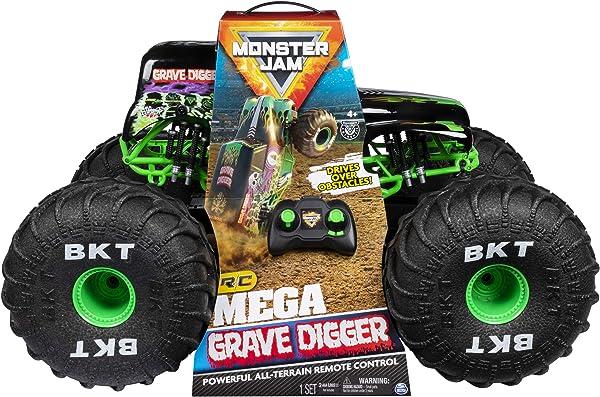 Monster Jam Official Mega Grave Digger Remote Control Monster Truck
