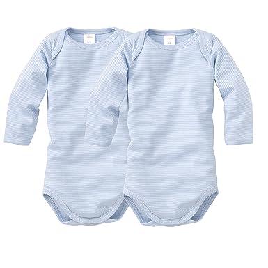 Wellyou Baby lot de 2 body manches longues blanc bleu clair rayures 623651d72a0
