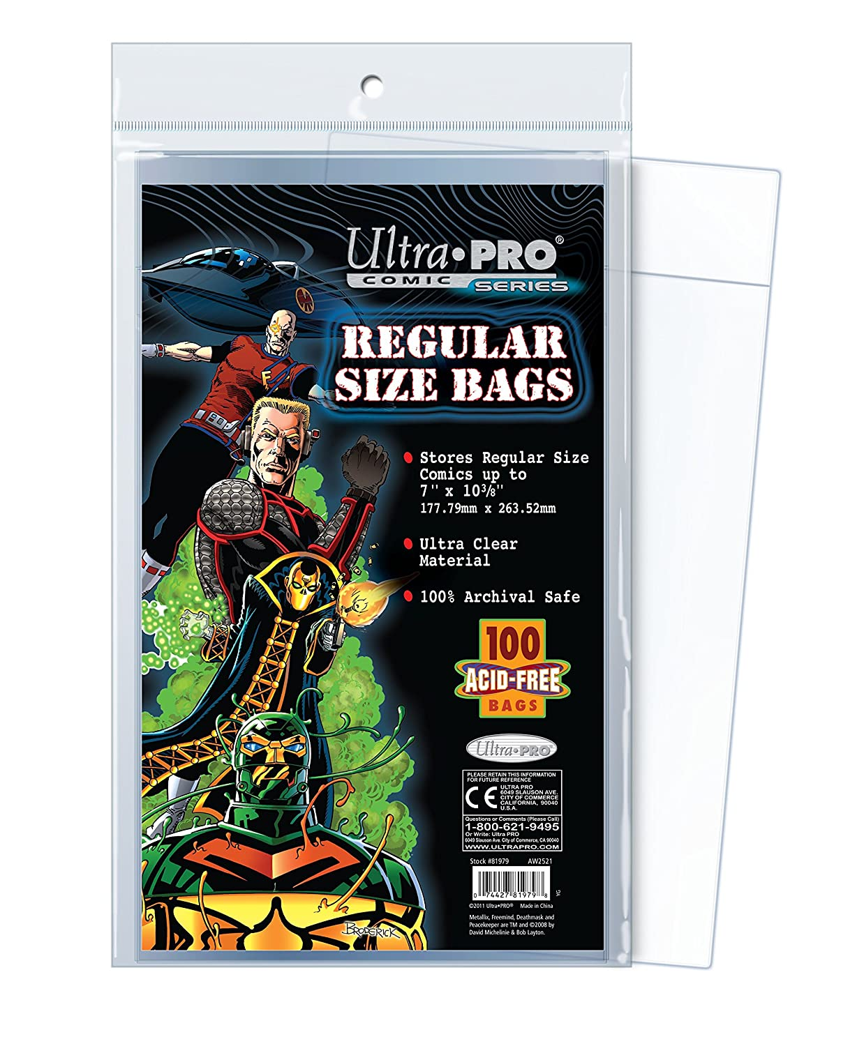 Sleeves Archival Safe 7-1//8 X 10-1//2 300 Max Pro Silver Age Comic Book Bags