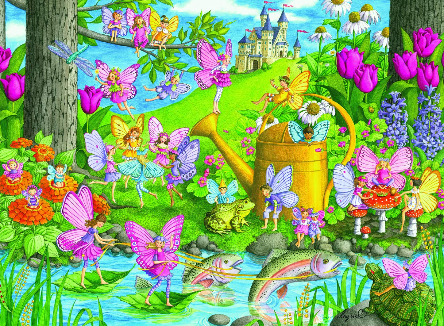 Ravensburger Fairy Playland - 100 Piece Jigsaw Puzzle for Kids – Every Piece is Unique, Pieces Fit Together Perfectly
