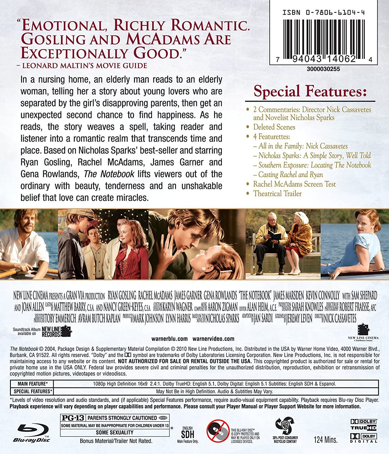 com the notebook blu ray ryan gosling rachel mcadams com the notebook blu ray ryan gosling rachel mcadams james garner gena rowlands james marsden kevin connolly david thornton
