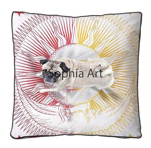 Funda de cojín Cuadrada con diseño de Mandala de Sol y Luna ...