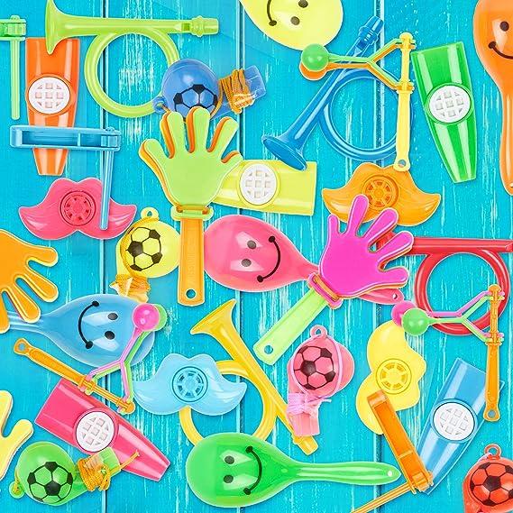 100 Giocattoli Sonagli Sensoriale Divertente E Rumoroso Intrattenimento Per I Bambini Tamburelli Fischietti Kazoo Pinata Regalini Da Festa Premi