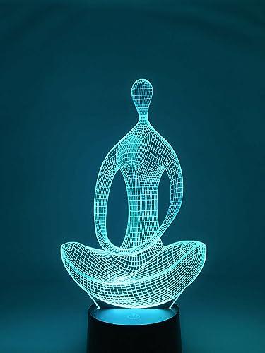 UniBridge - Luz LED de noche para meditación de yoga en 3D ...
