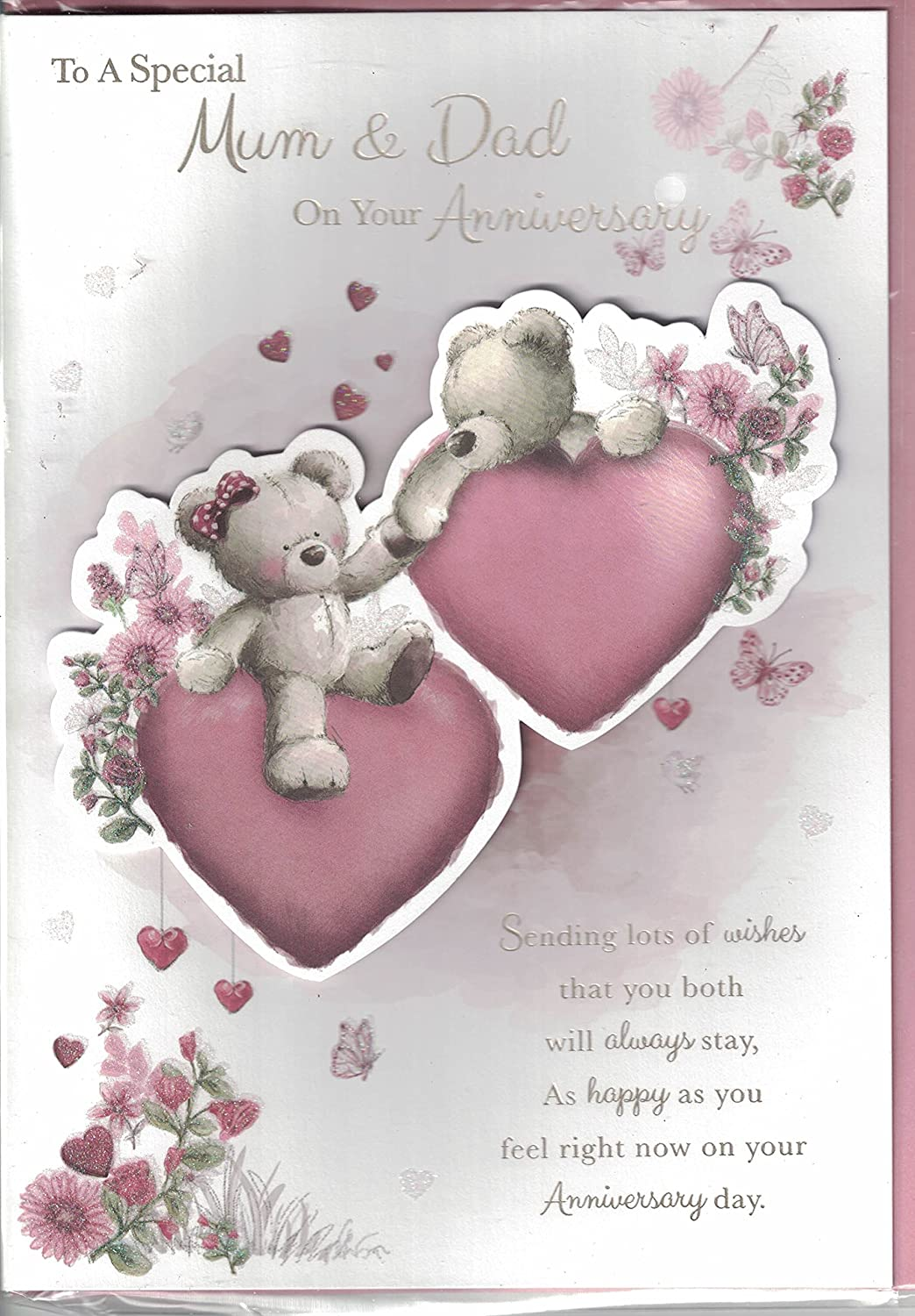 Mum And Dad Wedding Anniversary Card Anniversary Wishes With Love