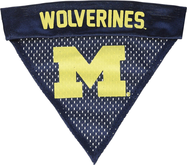 Pet Goods NCAA Michigan Wolverines Collar Bandana One Size