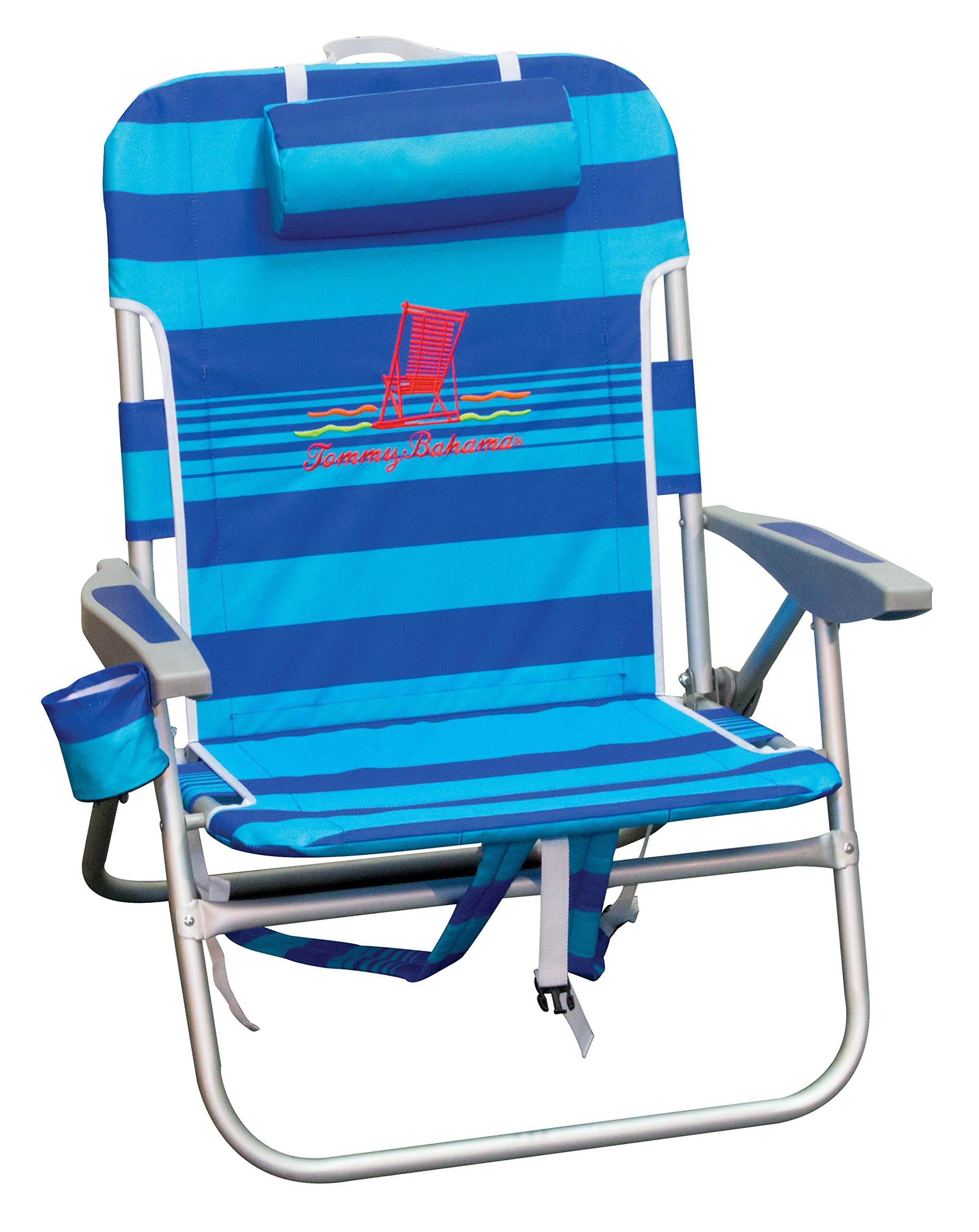 Tommy Bahama ASC537TB-182-1 Big Boy Backpack Beach Chair, Blue Stripe