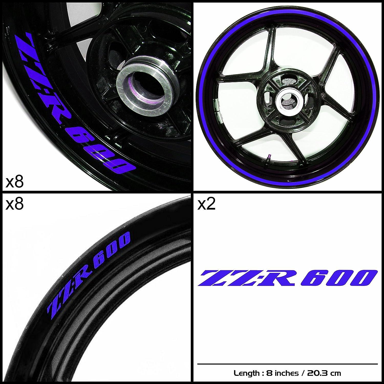 Stickman Vinyls Kawasaki ZZR 600バイクデカールステッカーパッケージグロスブルーグラフィックキット   B06XK4PKZM