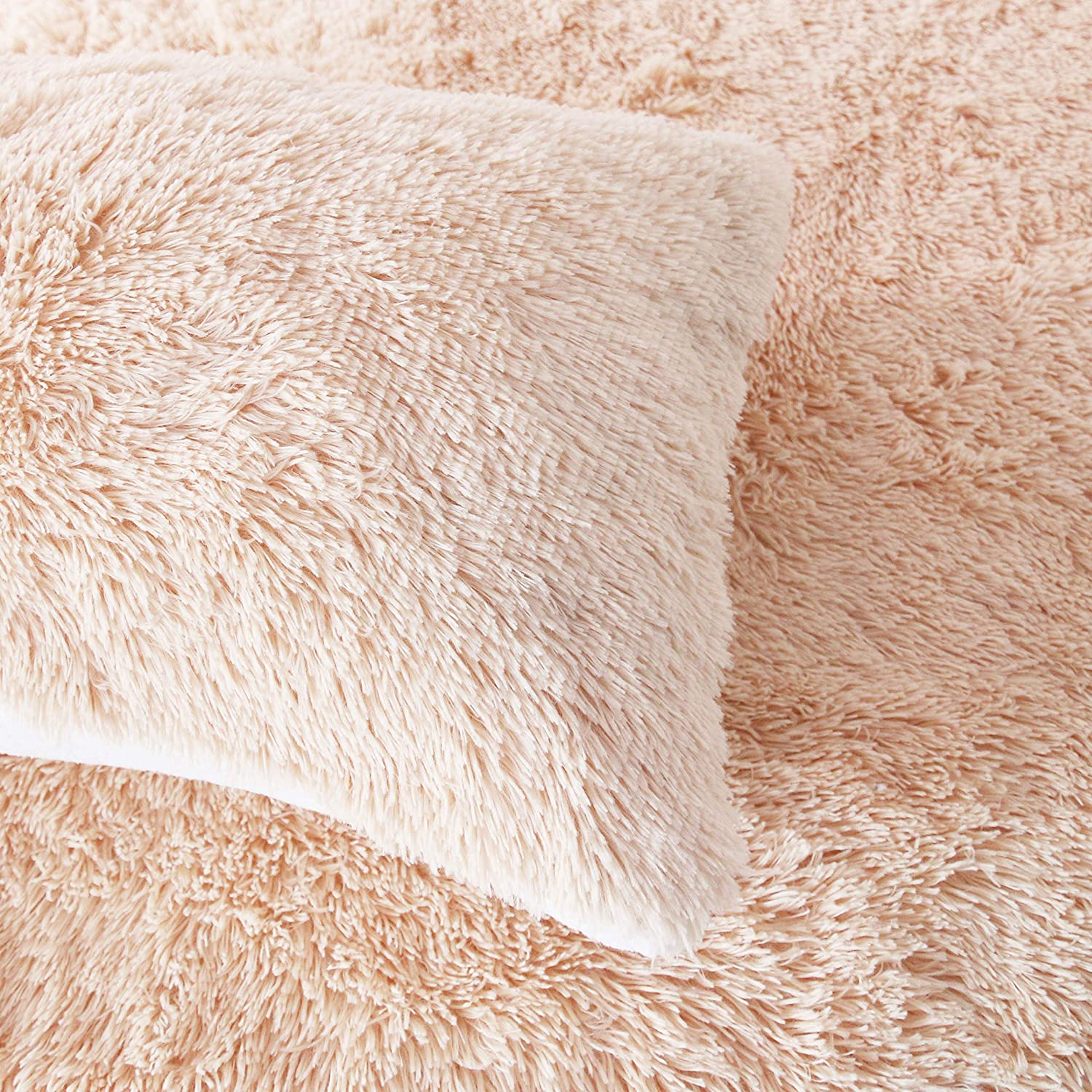 Queen Sleepwish Pink Shaggy Duvet Cover Ultra Soft Plush Faux Fur Bedding Set 3 Pieces Luxury Teenage Girls Bed Cover