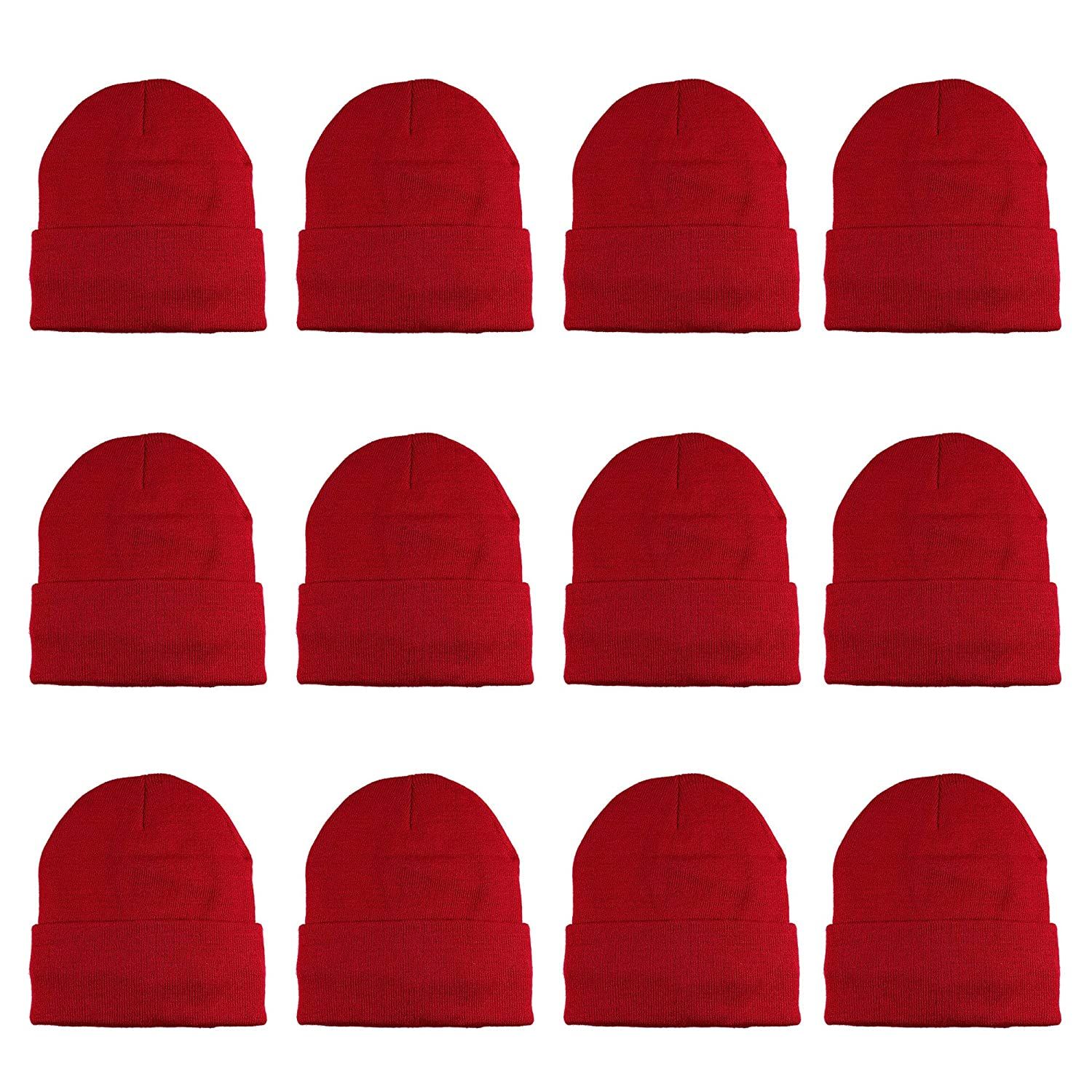 Gelante 3M Thinsulate Women Men Knitted Thermal Winter Cap Casual Beanies- Wholesale Lot 12 Packs-Black at Amazon Men s Clothing store  a6a58e56c0fa