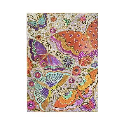 Paperblanks – Calendario de 12 meses 2020, diseño de mariposas, vertical, tamaño mediano (180 x 130 mm)