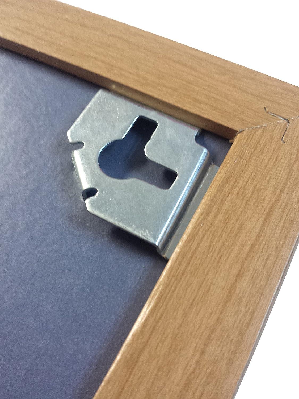90 cm x 60 cm-Ultra-Tableau blanc magn/étique effa/çable /à sec avec cadre en bois Bloc m/émo /& avec fixations