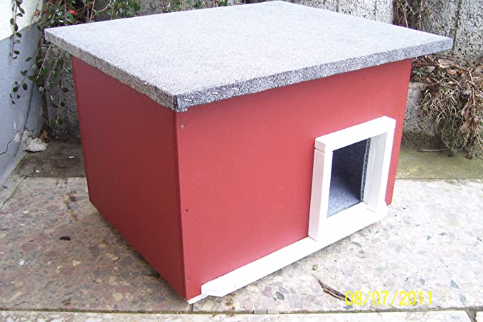 Lösche Holzbau Gato con calefacción de casa Sueco Caseta Gato Lanzamiento Caja Impermeable Aislado beheizt: Amazon.es: Productos para mascotas