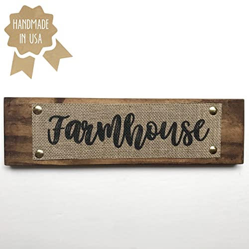 Farmhouse   BURLAP/WOOD SIGN   Kitchen Decor   Dining Room Sign  HANDMADE IN