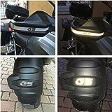 Adhesivos reflectantes plateados con inscripción «GS», para manillar y guardabarros