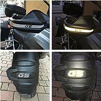 Adhesivos reflectantes plateados con inscripción «GS», para manillar