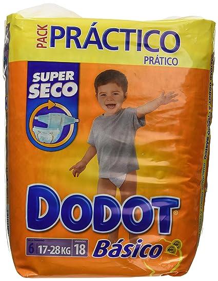Dodot - Básico Super Seco - Pañales Talla 6-18 unidades