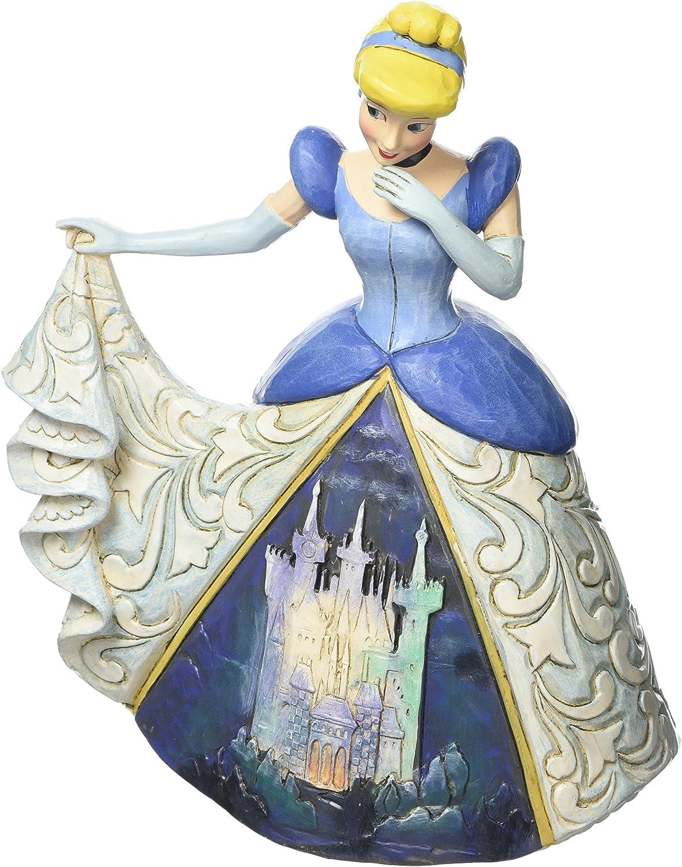 Disney Traditionsitions Figurine Cendrillon en Robe avec son ch/âteau