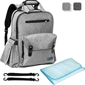 Baby Backpack Diaper Bag | Large Capacity Multi-Functional...