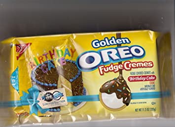 Amazoncom OREO 100TH BIRTHDAY GOLDEN OREO FUDGE CREMES WITH