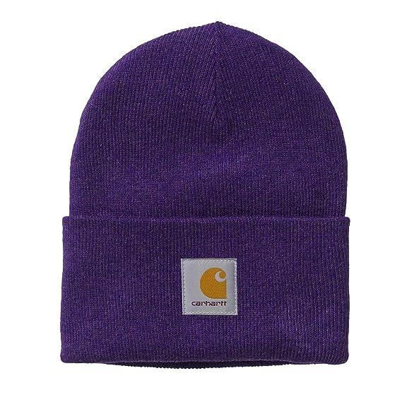 Carhartt WIP Unisex para Mujer Hombre Sombrero de Reloj acrílico de Invierno Sombrero de Punto Beanie Hat púrpura: Amazon.es: Ropa y accesorios