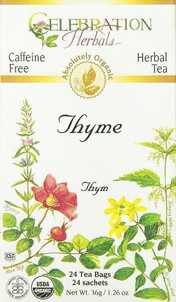 1efe35da1a86 Amazon.com  CELEBRATION HERBALS Thyme Leaf Tea Organic 24 Bag