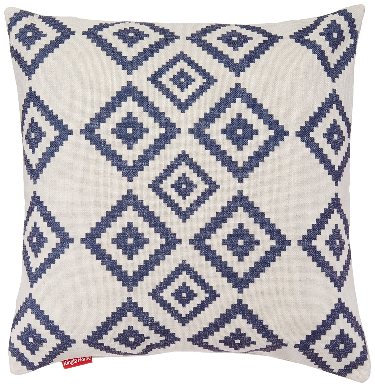 Kingla Home Square Cotton Linen Sofa Cushion Covers Decorative Pillow Cases 18 X 18 Inch American Flag Zippered Custom Throw Pillow Cover COMIN16JU049830