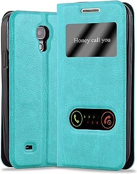 Cadorabo Funda Libro para Samsung Galaxy S4 Mini en Turquesa Menta: Amazon.es: Electrónica
