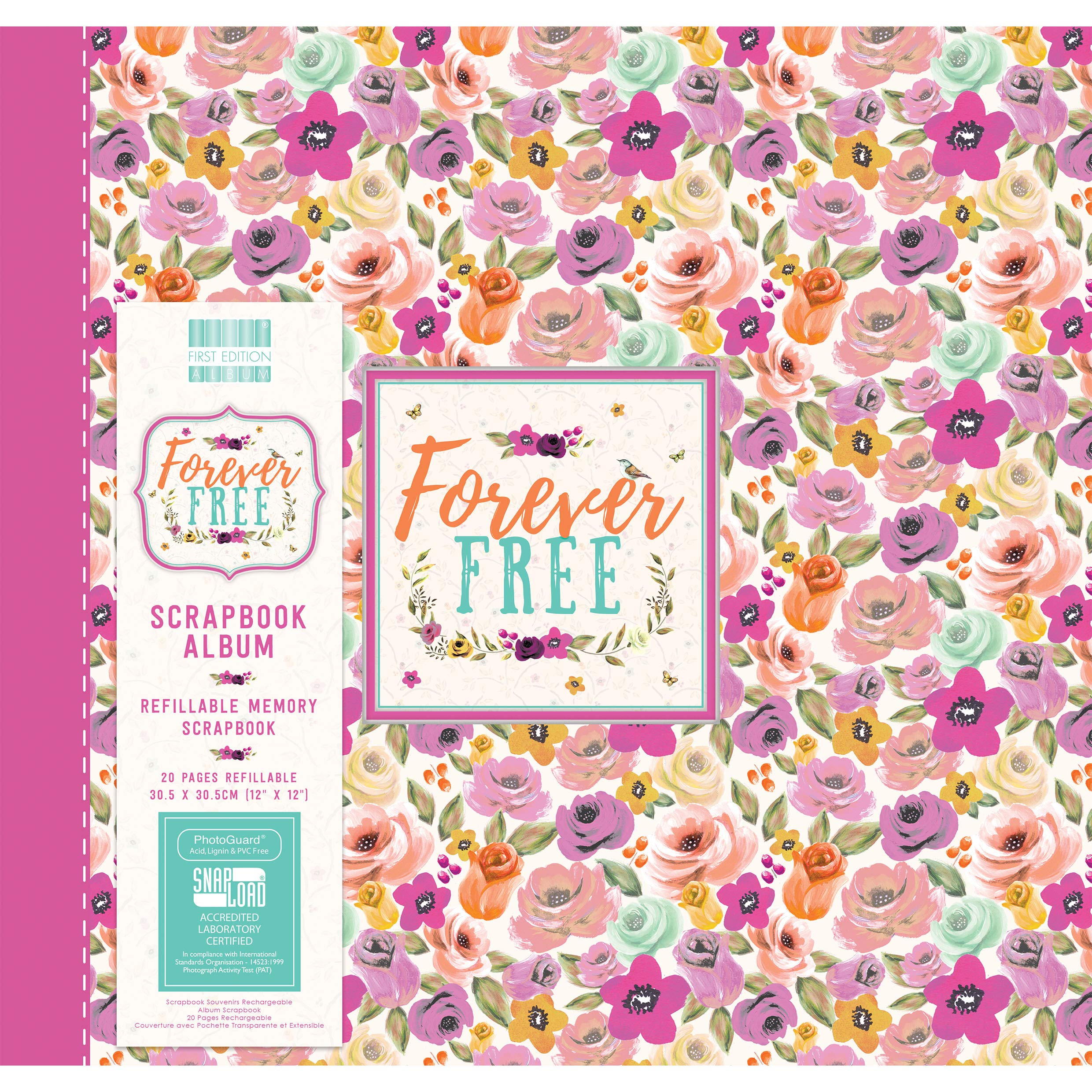 First Edition Forever Free - Blooms Scrapbook Album 12''x12'' (Snap Load)