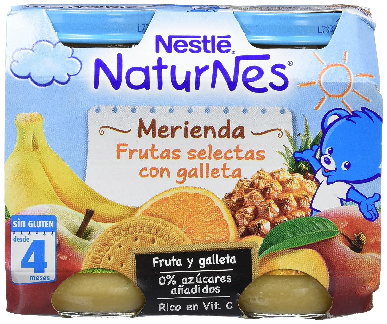 Nestlé Naturnes Merienda Frutas Selectas con Galleta - Paquete de 6 x 2 unidades de 200 g - Total: 2.4 kg