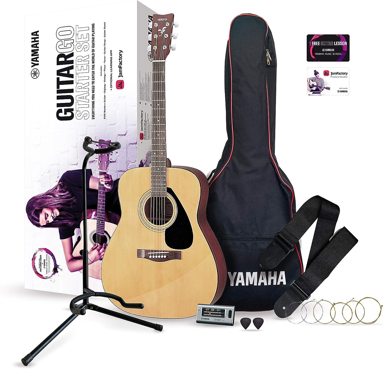 YAMAHA GuitarGo - Set para principiantes y para aquellos que quieran retomarlo, incluye cuerdas, púas, funda, diapasón, atril y mucho más (GGUITARGO)