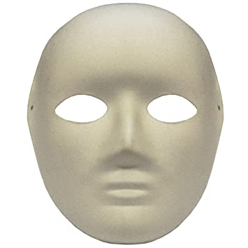 OMYGOD PLAIN WHITE FULL FACE PAPER MACHE MASK TO DECORATE YOURSELF Amazing Paper Mache Masks To Decorate