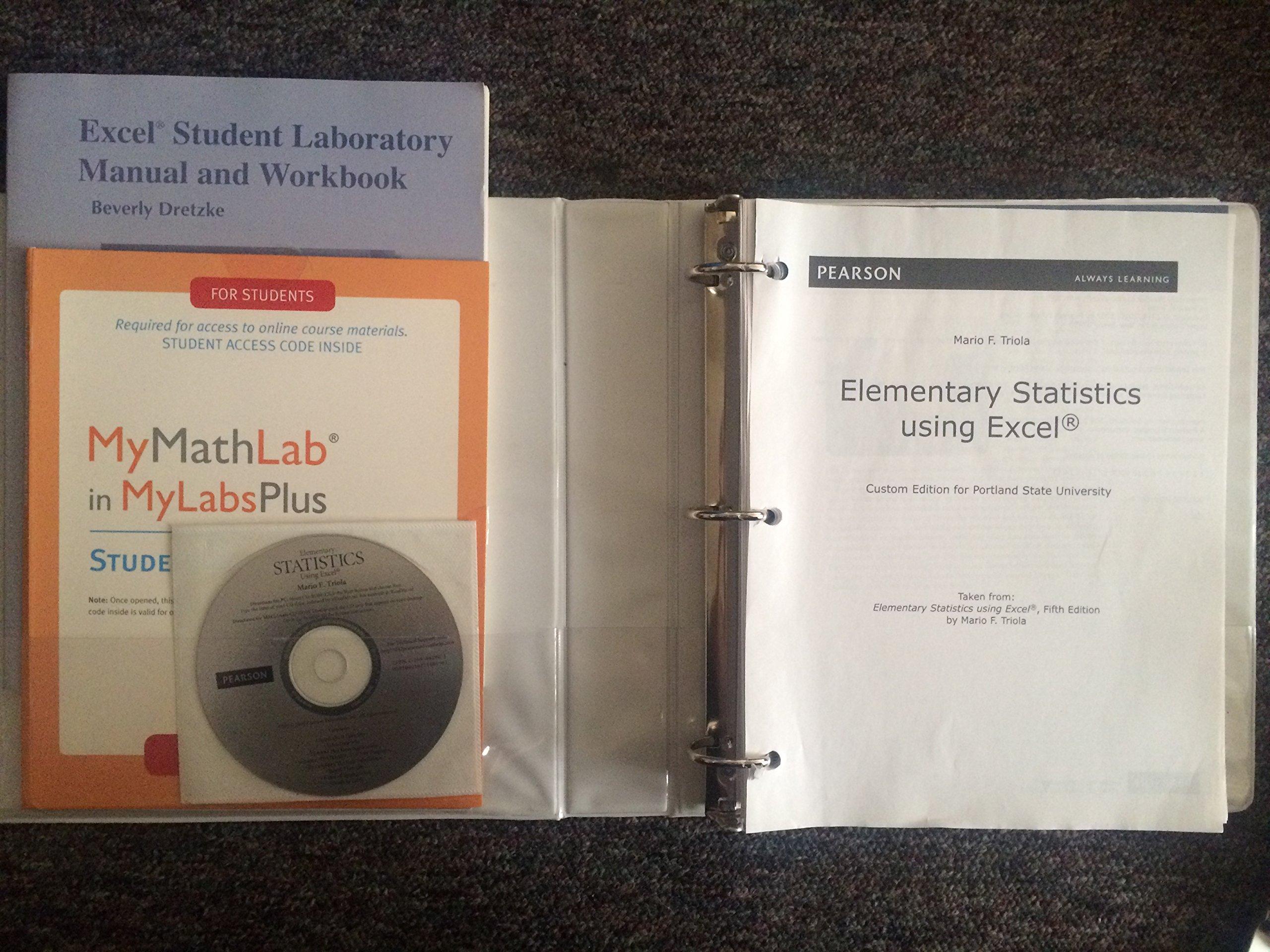 Elementary Statistics Using Excel: Mario F. Triola: 9781269462907:  Amazon.com: Books
