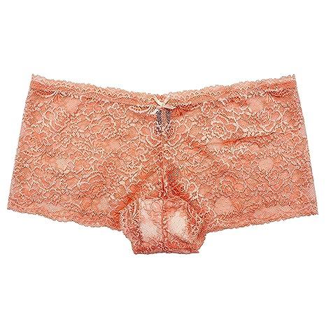 7cc1d17d2d4b Barbra s 6 Pack of Women s Regular   Plus Size Lace Boyshort Panties at  Amazon Women s Clothing store