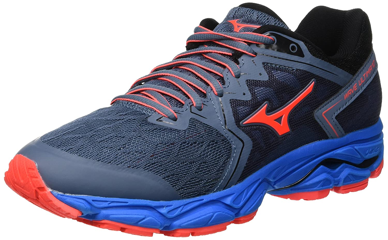 Mizuno Wave Ultima 10, Zapatillas de Running para Mujer 36.5 EU|Azul (Blue Mirage/Fierycoral/Divablue 55)