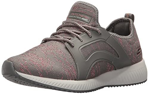 Skechers BOBS Womens Bobs Squad-Glossy Finish Fashion Sneaker, Dark Taupe, ...