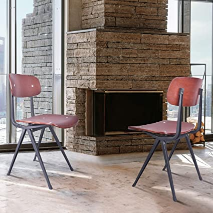 Peachy Amazon Com Armen Living Levi Industrial Dining Chair In Alphanode Cool Chair Designs And Ideas Alphanodeonline