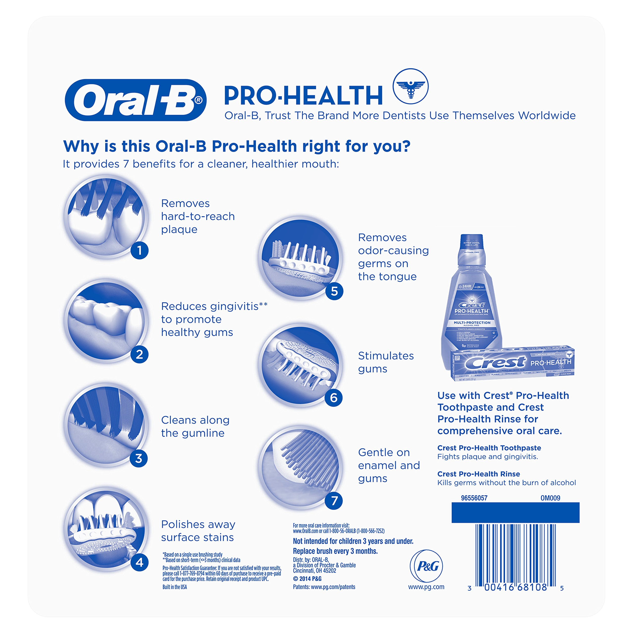 Oral-B Pro Health All In One Soft Toothbrushes, 6 Count by Oral B (Image #2)