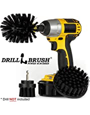 Drillbrush 3 Piece Drill Brush Cleaning Tool Attachment Kit for Scrubbing/Cleaning Tile, Grout, Shower, Bathtub, and All Other General Purpose Scrubbing