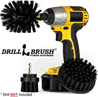Drillbrush 3 Piece Drill Brush Cleaning Tool Attachment Kit for Scrubbing/Cleaning Tile, Grout, Shower, Bathtub, and All...