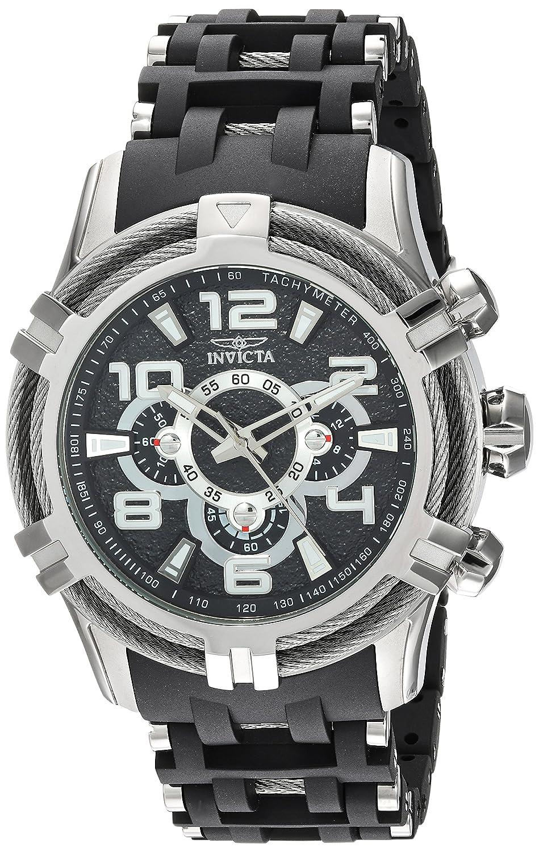 546430f5c Amazon.com: Invicta Men's Bolt Quartz Watch with Stainless-Steel Strap,  Black, 26 (Model: 25553: Watches