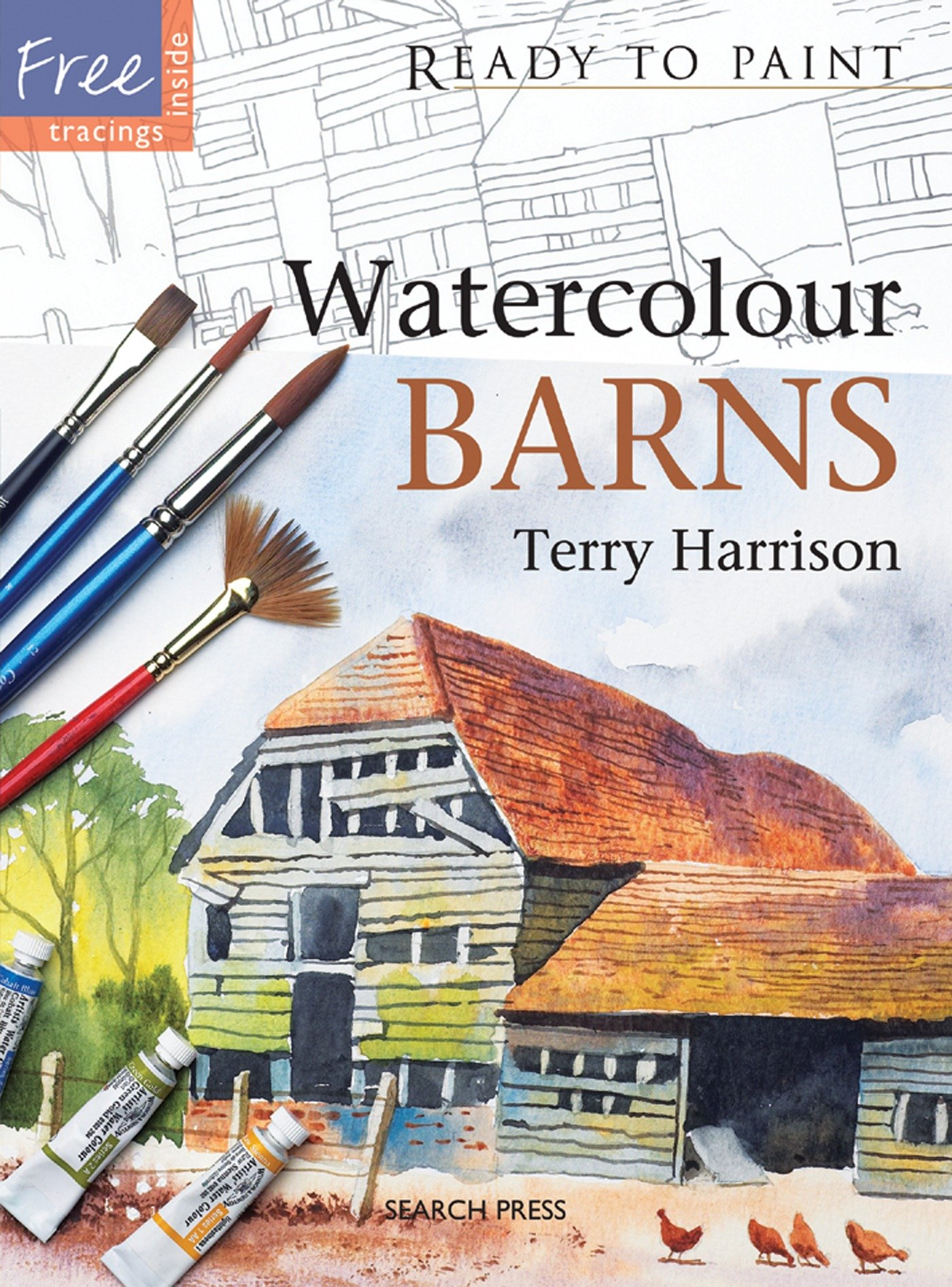 Download Watercolour Barns (Ready to Paint) PDF