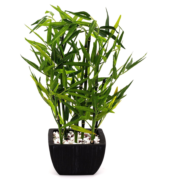 artfleur - künstlicher Bambus Kunstpflanze (grün, 40 cm)
