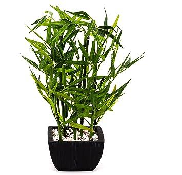 Artfleur Kunstlicher Bambus Kunstpflanze Grun 40 Cm Amazon De