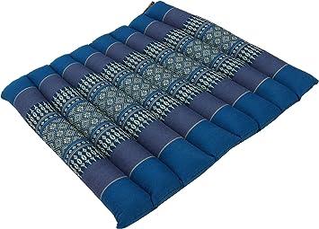 schwarz//blau Thai Stuhlkissen 35*40 cm Sitzunterlage aus Kapok Bodenkissen
