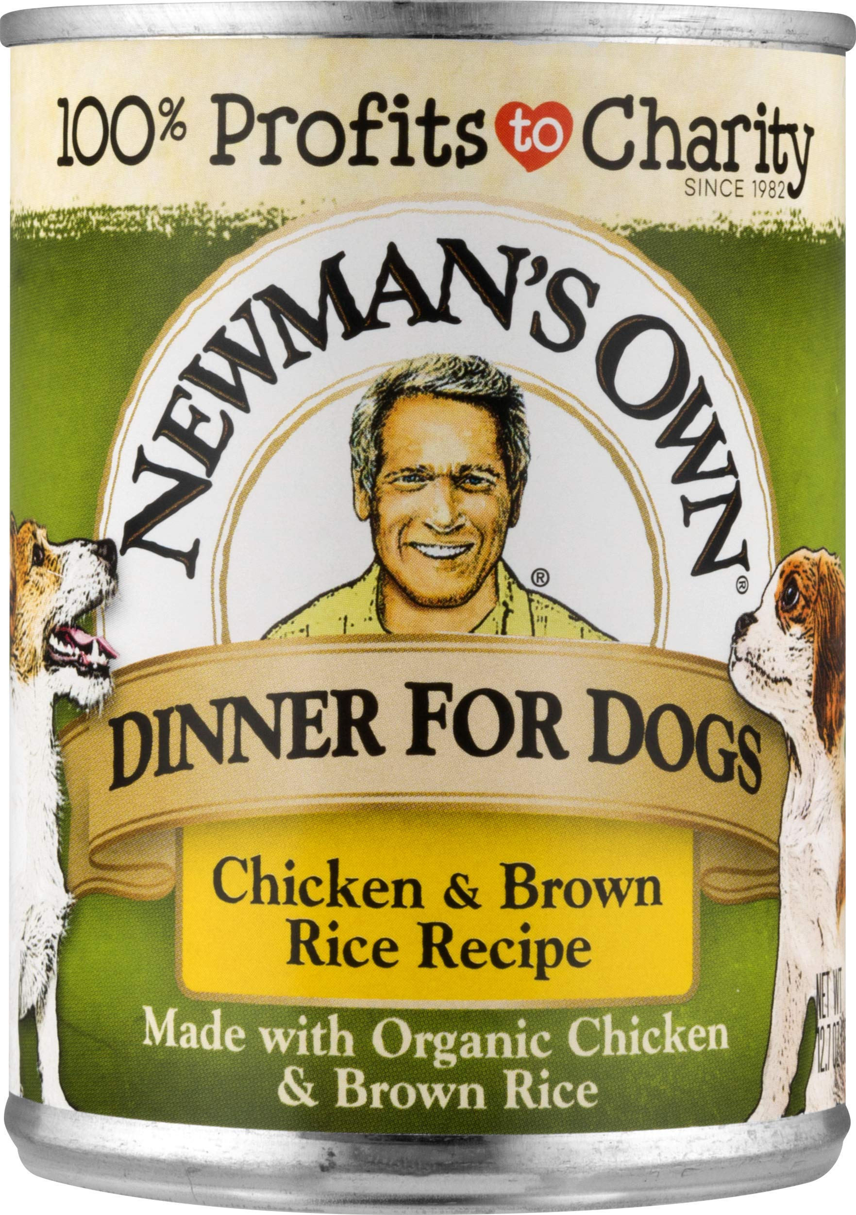 Newman's Own Chicken & Brown Rice Formula For Dogs, 12.7-Ounce Cans (Pack Of 12) by Newman's Own