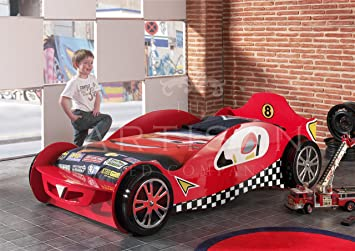 childrens car beds boys red racing kids car bed frame