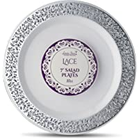 Laura Stein Designer Tableware Lace Series Hot Stamp Plastic Disposable Plates